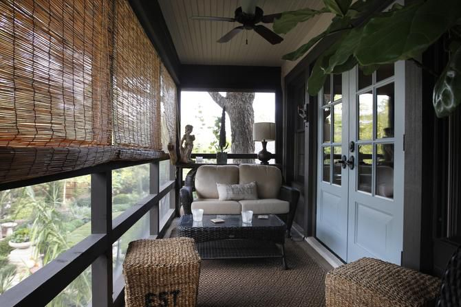 A screened porch was added off the master suite.