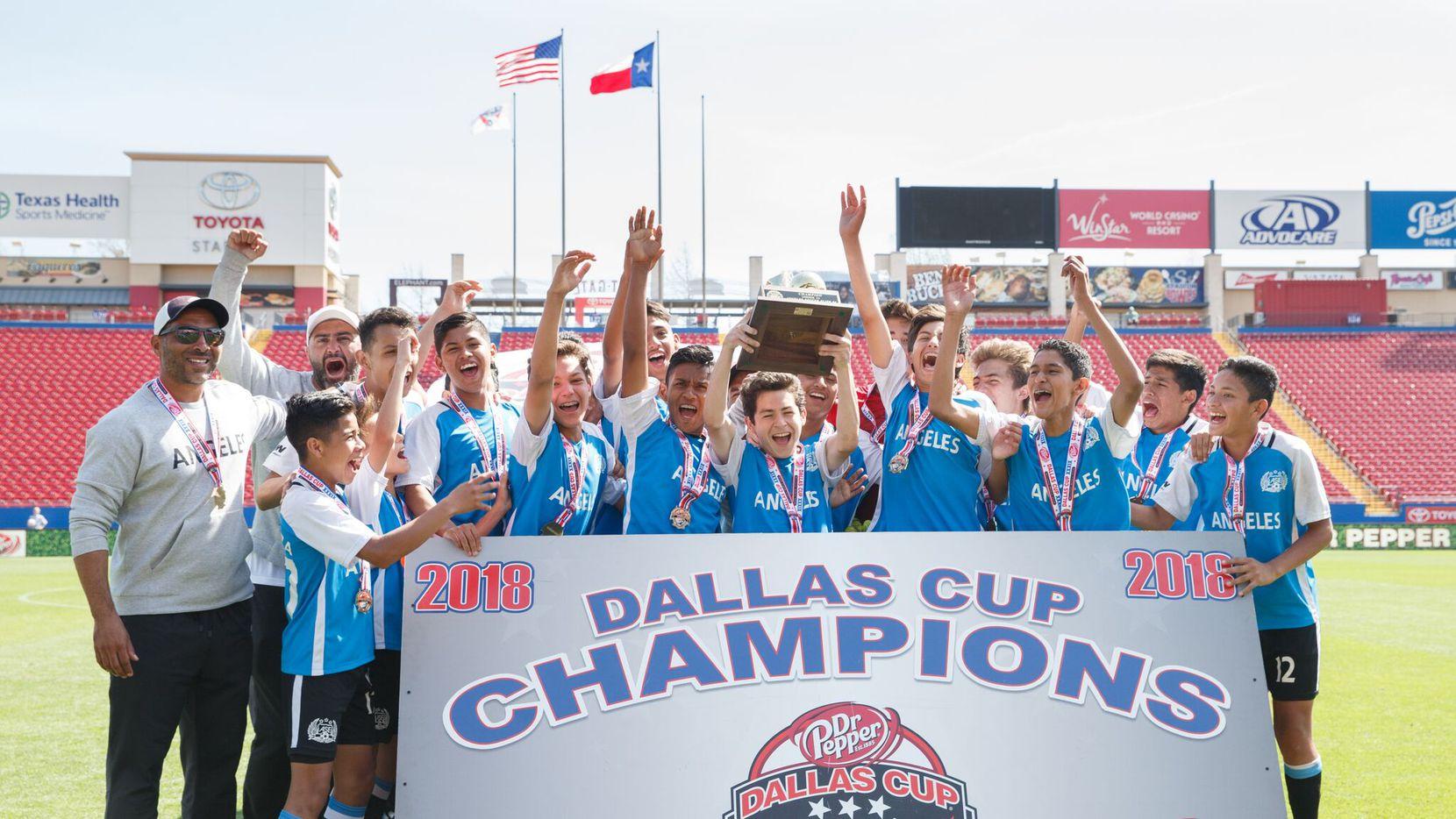 El equipo Angeles Soccer Elite, U14, campeones de la Dallas Cup en 2018.