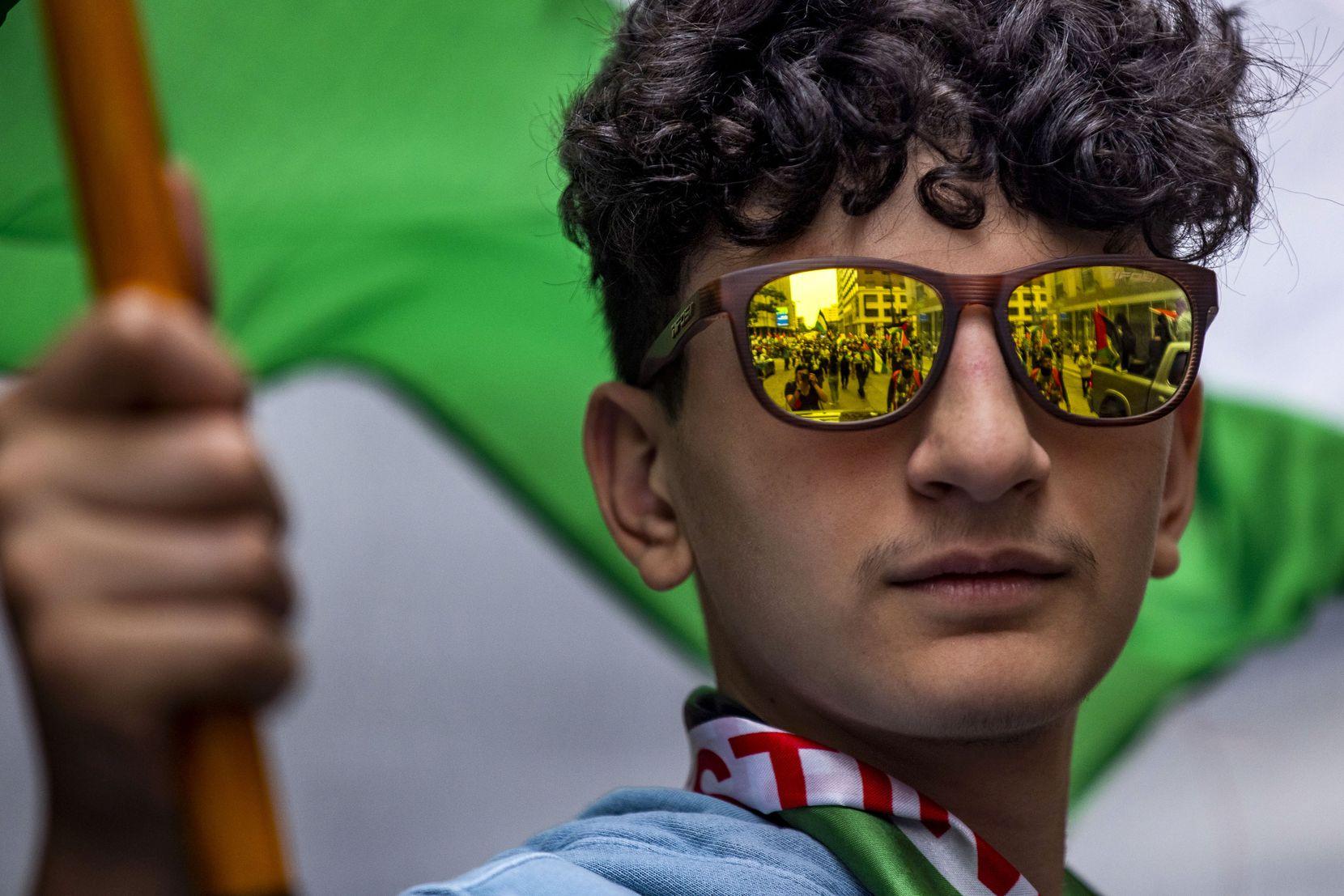 Hamzah Kayyas, 15, was among many young people who turned out on Sunday.