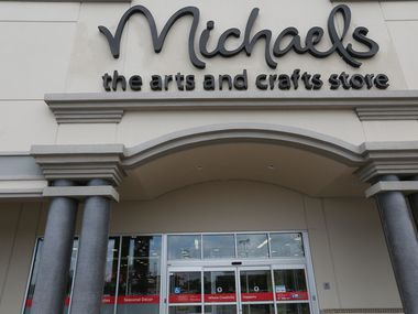 The entrance to the Michaels store at the Park Place Shopping Center in Plano.
