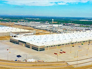 The 2.3 million square-foot Home Depot shipping hub was built last year near Interstate-20.