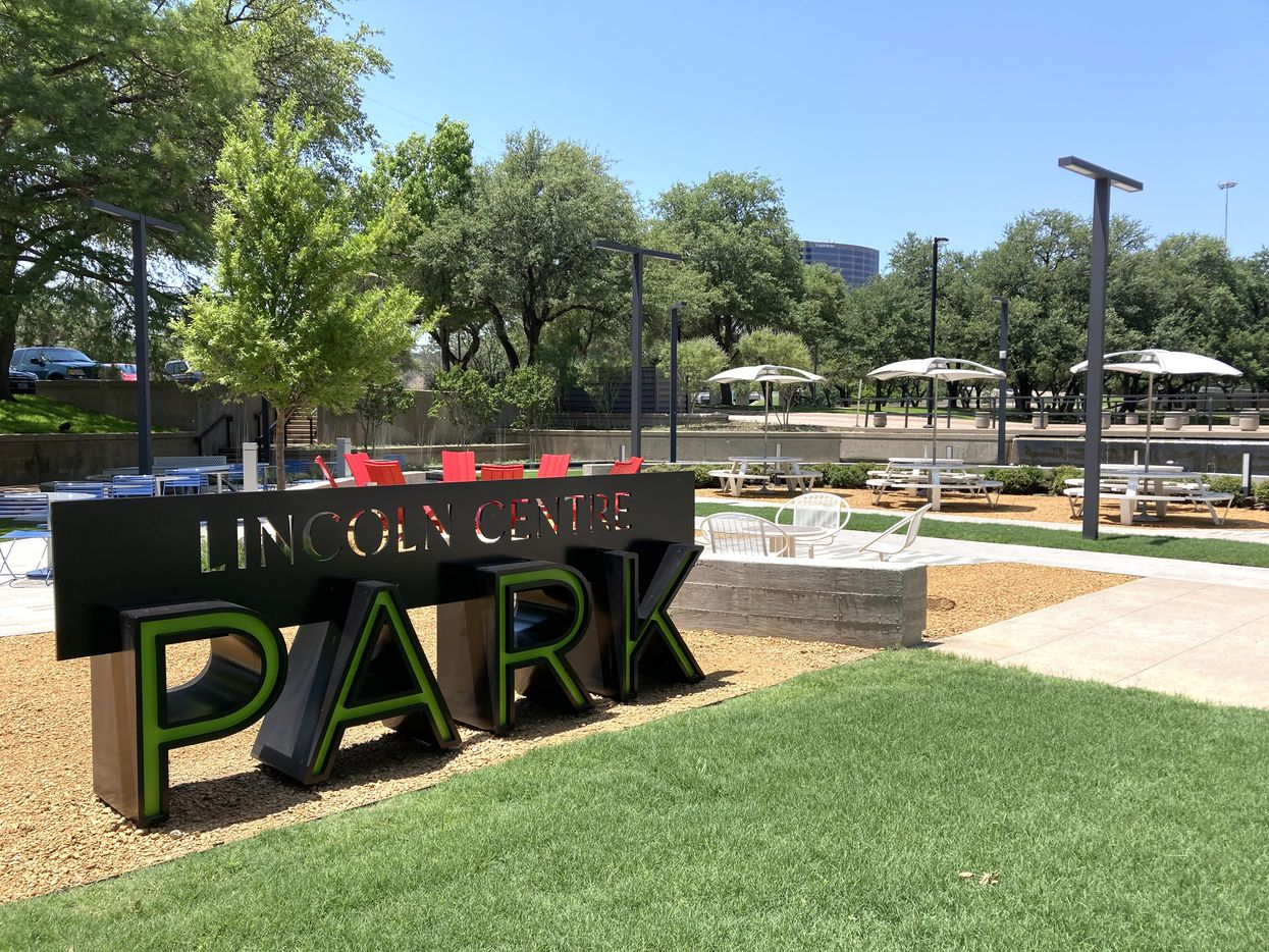 A new park replaced an old reflecting pool.