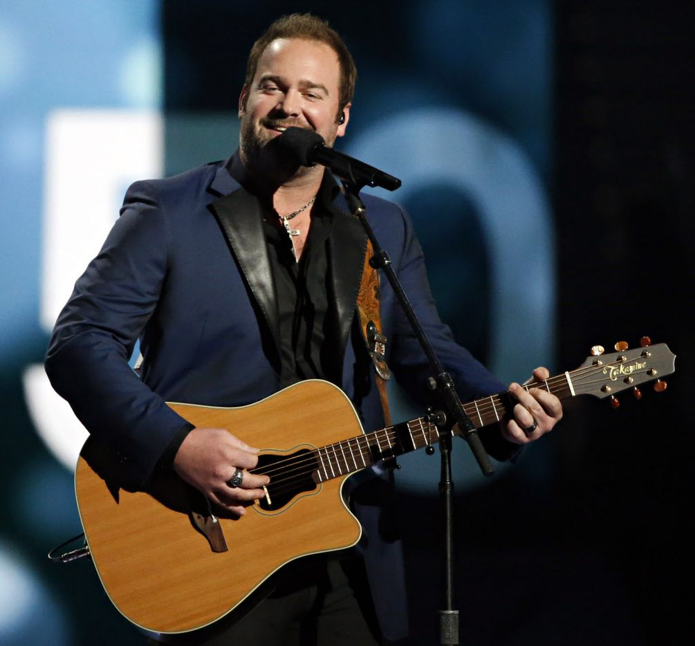 Lee Brice performs during the 2015 Academy of Country Music Awards Sunday, April 19, 2015 at AT&T Stadium in Arlington, Texas.