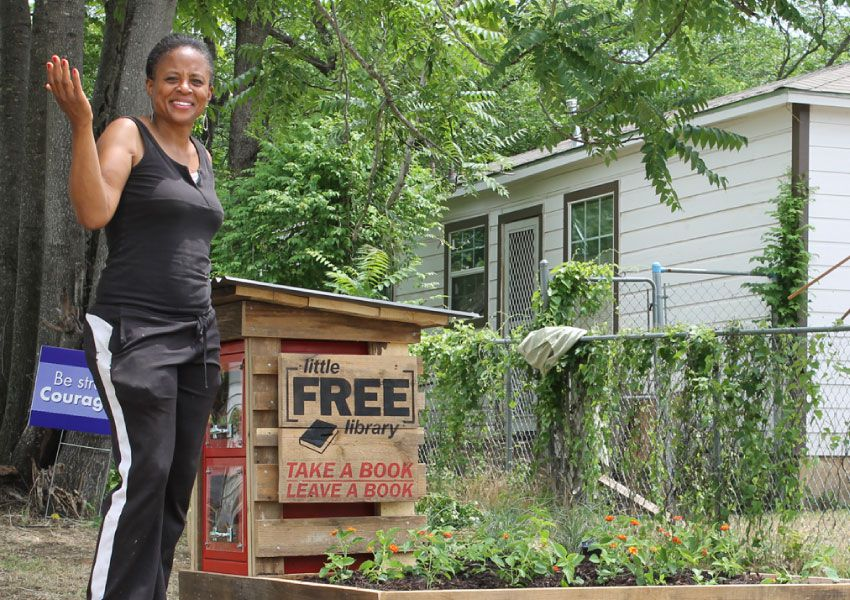 Alendra Lyons and the Mill City Little Free Library