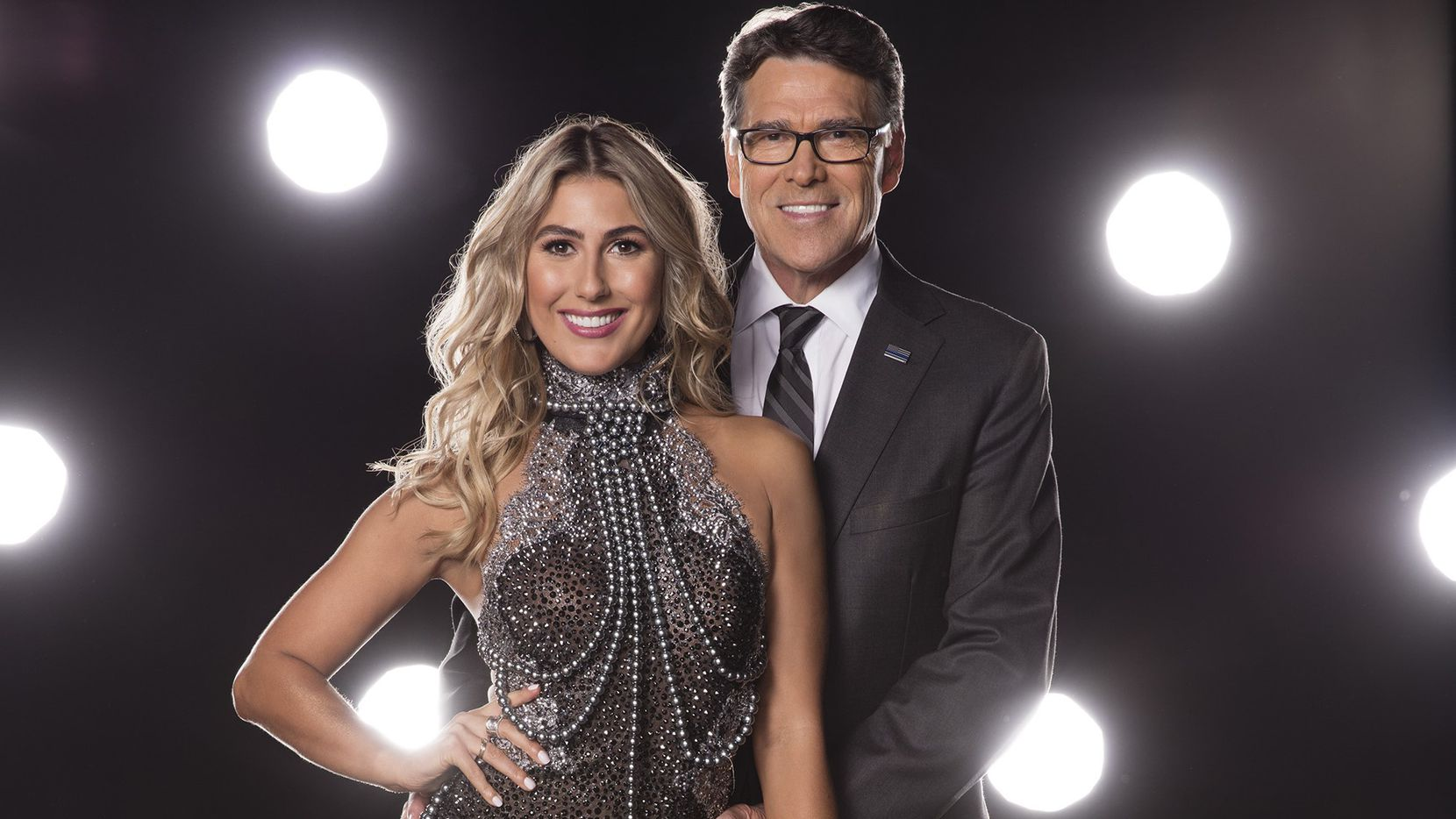 """Former Texas governor Rick Perry will pair with Emma Slater on """"Dancing with the Stars,"""" which starts its new season on Monday, Sept. 12, 2016. (Craig Sjodin/ABC)"""