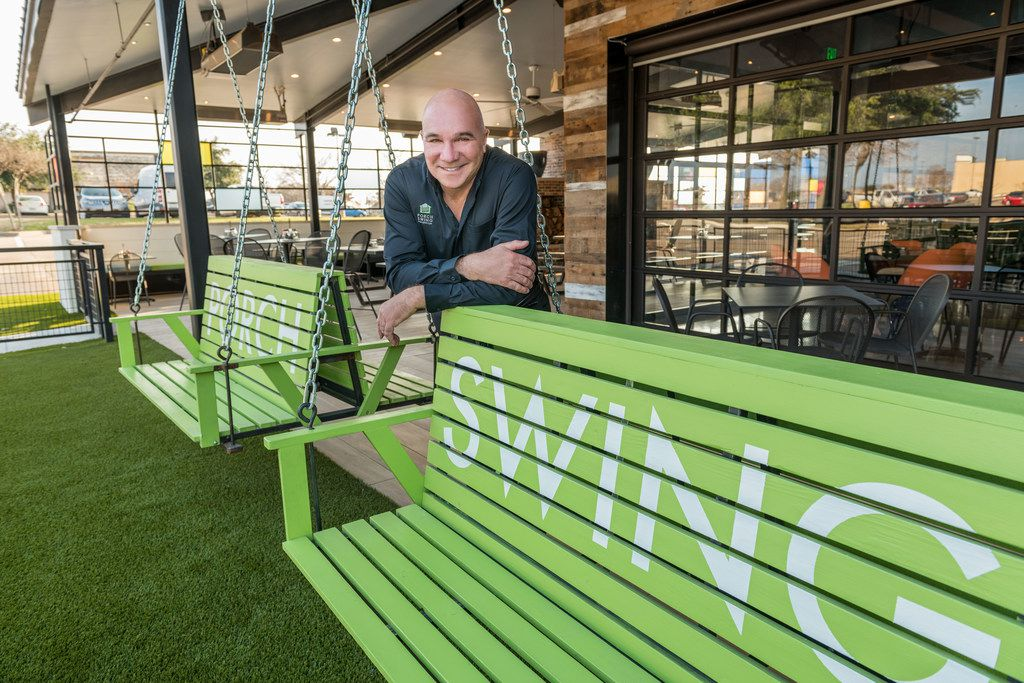 """""""I learned — and this is part of the discipline of developing a concept for franchising — you have to rely heavily on operational systems if you want to scale it,"""" says Antonio Swad. He founded Pizza Patron and Wingstop and has now launched a new restaurant called Porch Swing."""