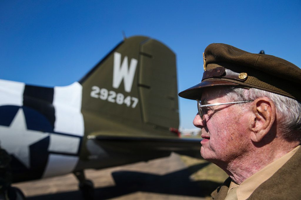 Retired Lt. Col. David Hamilton, 96, took a flight Friday  on That's All, Brother. The ride was part of the Commemorative Air Force Wings Over Dallas WW II Airshow at Dallas' Executive Airport.
