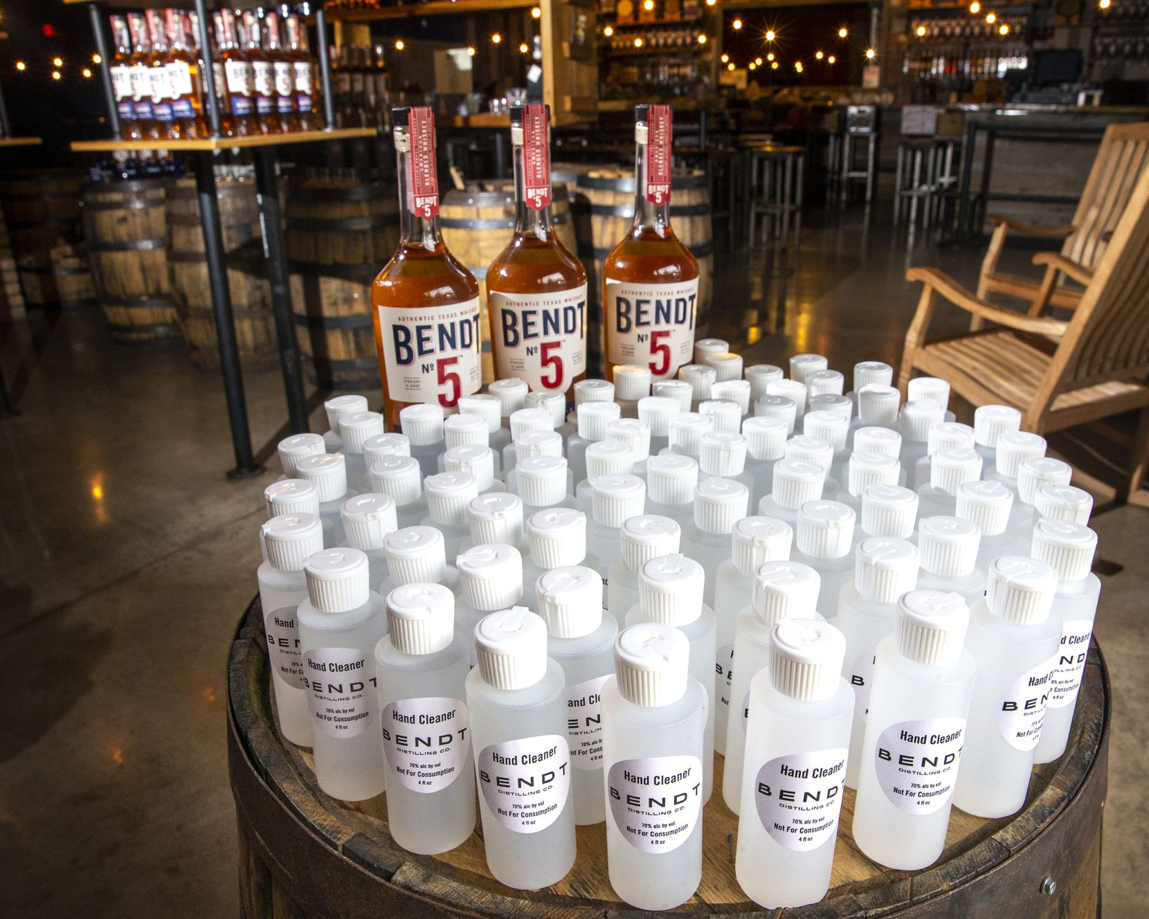 Bendt Distilling turned to hand sanitizer production once the COVID-19 outbreak took hold, ultimately donating tens of thousands of bottles to Dallas County front-line workers.