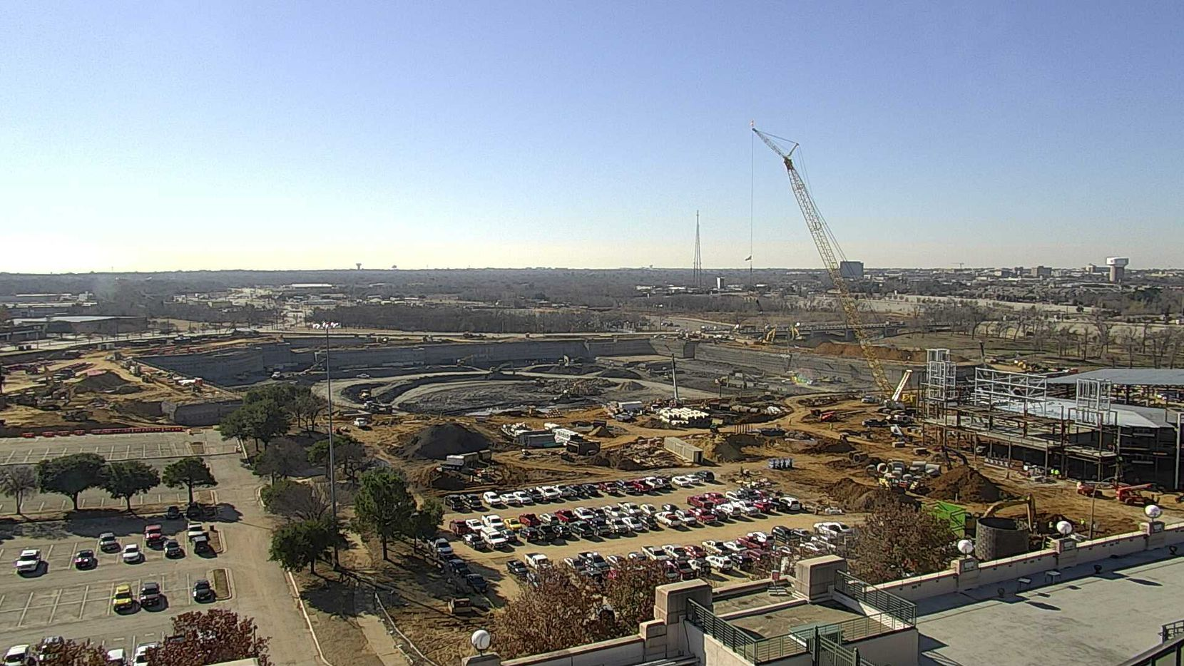 Here's the latest construction image taken Jan. 3 near the site of construction at Globe Life Field. The Rangers have gone online with a webcam so fans can see time-lapse images as the team's $1.1 billion stadium goes up.