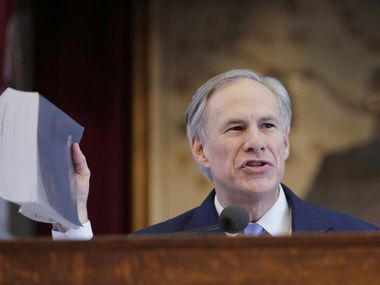 Gov. Greg Abbott, shown delivering his 2019 state of the state speech in the House chamber of the Texas Capitol in Austin, is having to forego pomp and a large crowd this year because of concerns stemming from the COVID-19 pandemic. On live television, Abbott will speak to Texans at 7 p.m. CT on Feb. 1.