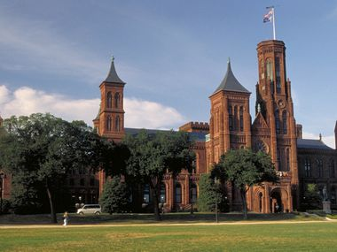 The Castle, home to the Smithsonian Institution administrative offices along the National Mall.
