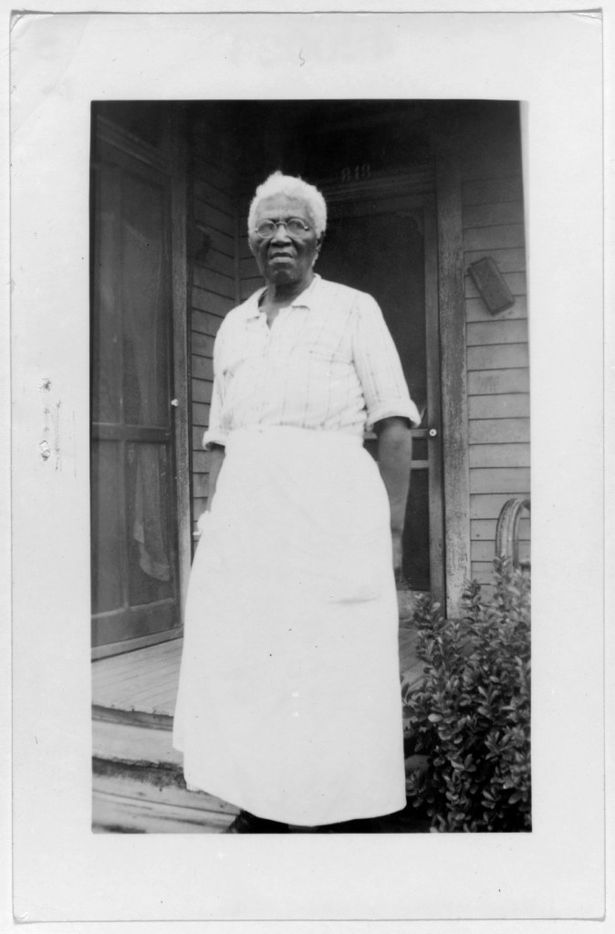 Emma Watson, ex-slave, shown in Dallas, on Sept. 5, 1937. The photo is from a collection of portraits of African American ex-slaves created by the U.S. Works Progress Administration, for the Federal Writers' Project slave narratives collection.