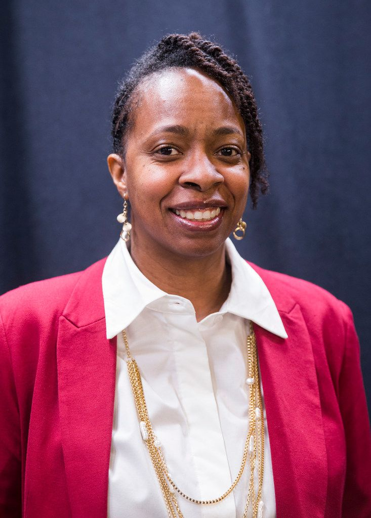 The Rev. Kamilah Hall Sharp of The Gathering posed for a photo on Wednesday, Jan. 23, 2019.