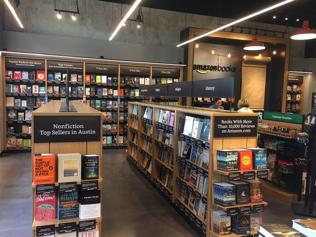 The first Amazon Bookstore in Texas opened in Austin on March 6, 2018 in Domain Northside.
