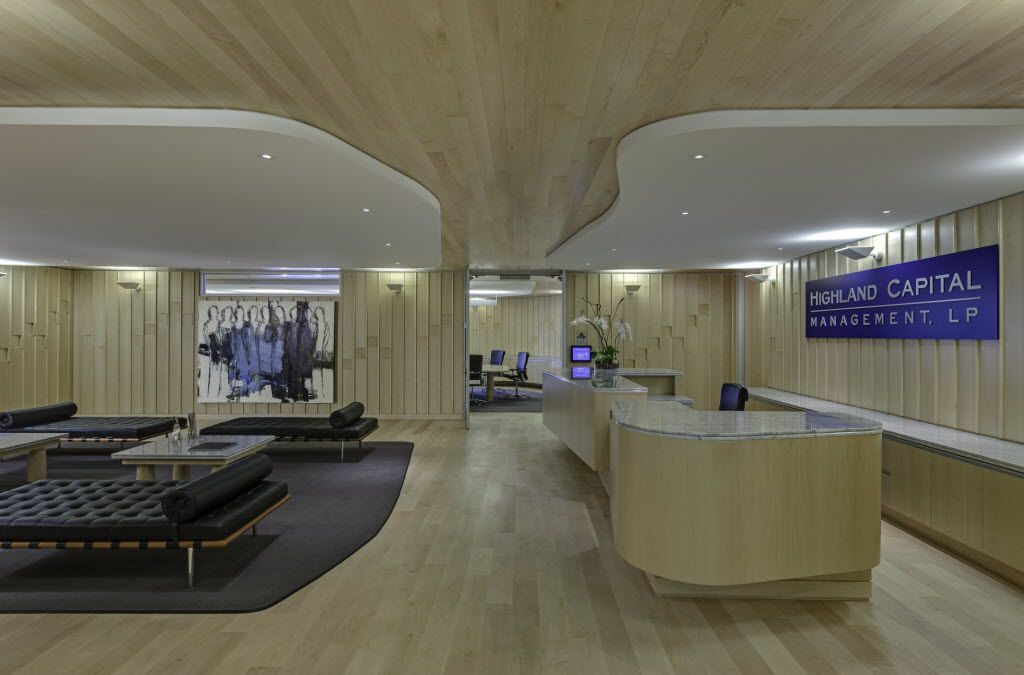 The front lobby of the Crescent offices of Highland Capital Management, a Dallas-based hedge fund. 02092014xBIZ