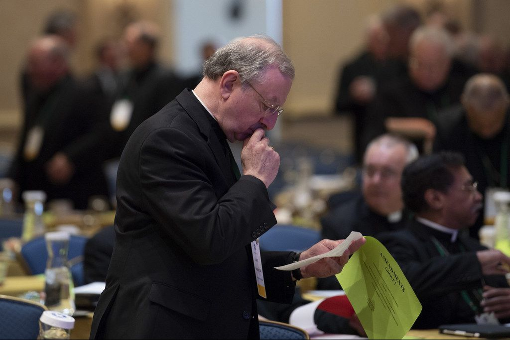 Bishops gathered for the third and final day of the annual fall conference of the U.S. Conference of Catholic Bishops on Nov. 14 in Baltimore.