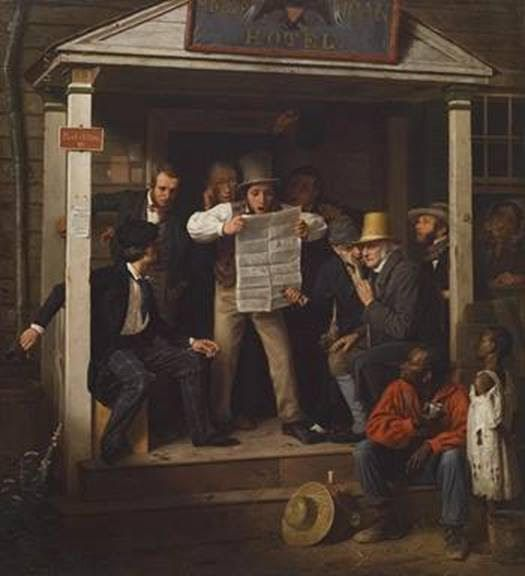 One of Watchdog Dave Lieber's favorite paintings. War News from Mexico (1848) by Richard Caton Woodville. The painting is in the Crystal Bridges Museum of American Art in Bentonville, Ark.