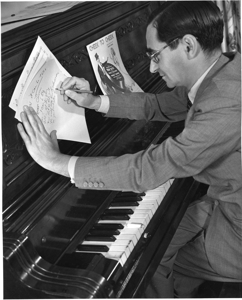 Irving Berlin at his piano in 1938.