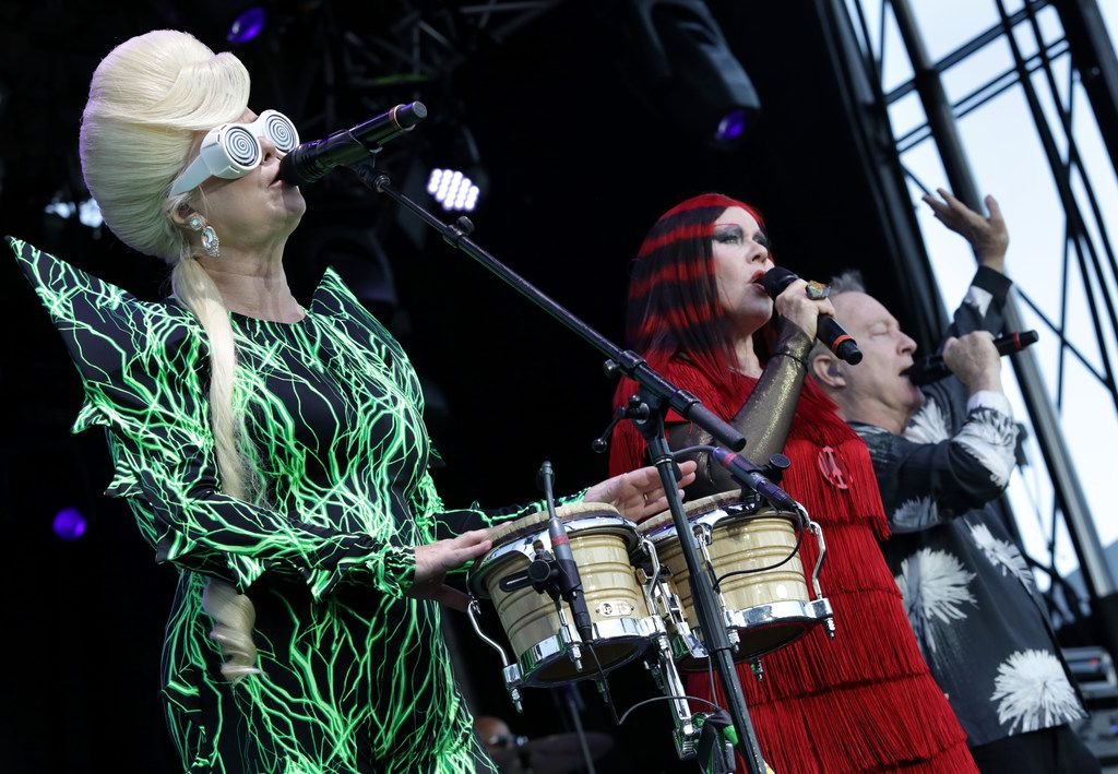 The B-52s perform during Kaaboo Texas at AT&T Stadium in Arlington, TX, on May 12, 2019.