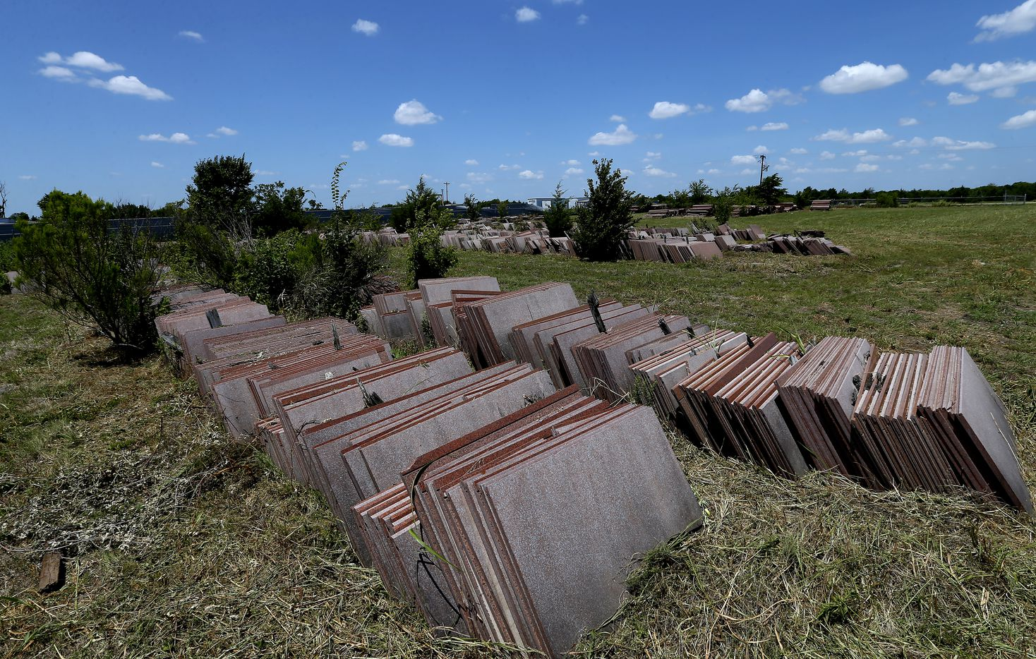 A pile of granite sits in the storage yard on Malloy Bridge Road in Ferris, Texas, Wednesday, July 26, 2017. (Jae S. Lee/The Dallas Morning News)