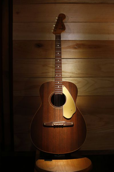 Country star Charley Pride's Fender Newporter acoustic guitar is part of his collection of memorabilia being donated to the Smithsonian's National Museum of African American History and Culture,. It is photographed at his Dallas studios, Monday, September 24, 2012.