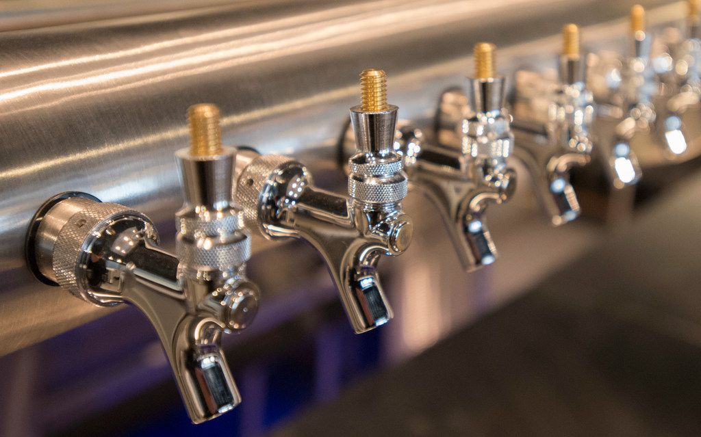 New beer taps at Bar Manzanilla at the Big Beat Dallas. The bar is also expected to specialize in tacos and tequila.