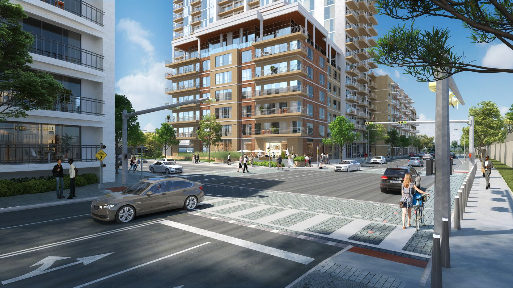 A CTC rendering shows the intersection of N. Houston Street and Victory Avenue.
