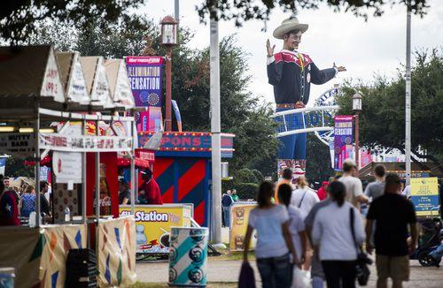 Big Tex y la Feria Estatal de Texas abren sus puertas este viernes 29 de septiembre en Dallas en Fair Park. (Ashley Landis/The Dallas Morning News)