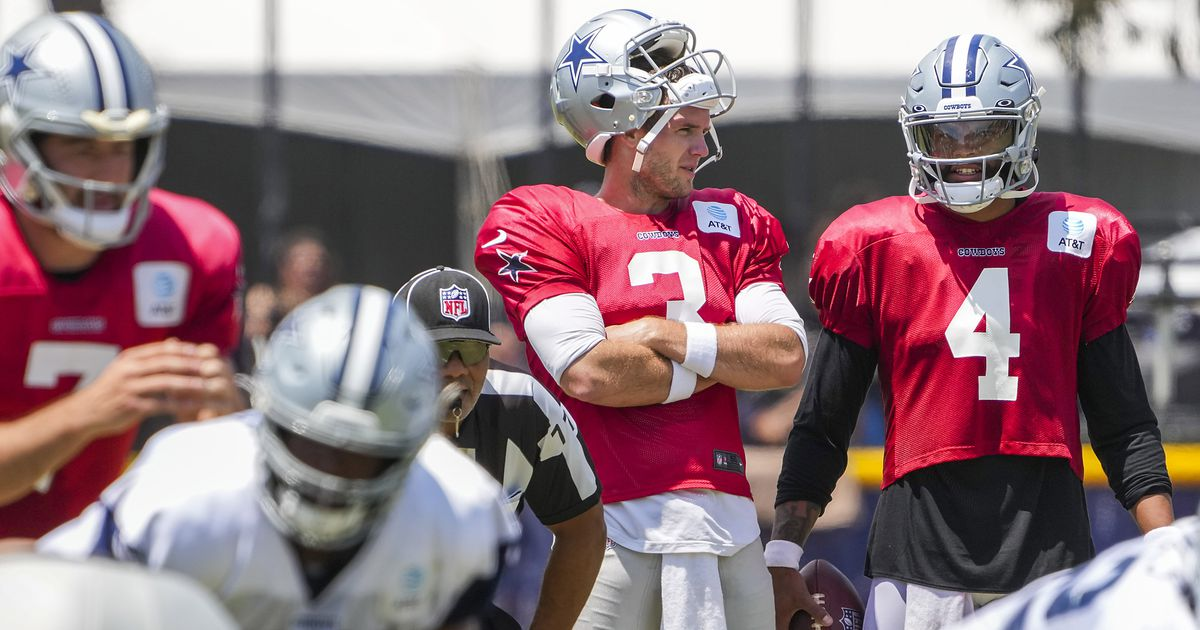 Cowboys camp observations: Dak Prescott participates, but doesn't throw, in Thursday's practice