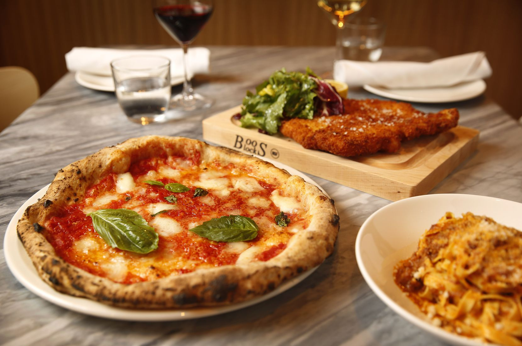 La Pizza & La Pasta is located on the second floor of NorthPark Center in Dallas and has a sizeable menu of pizzas and pastas.