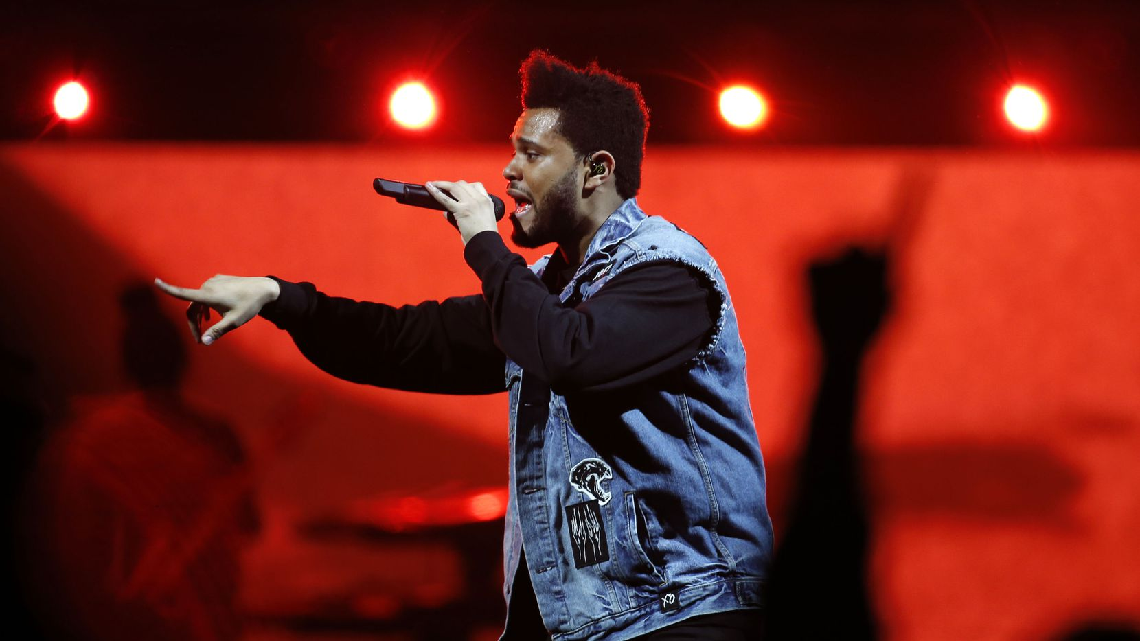 The Weeknd performs at the American Airlines Center in Dallas on Thursday, May 4, 2017.