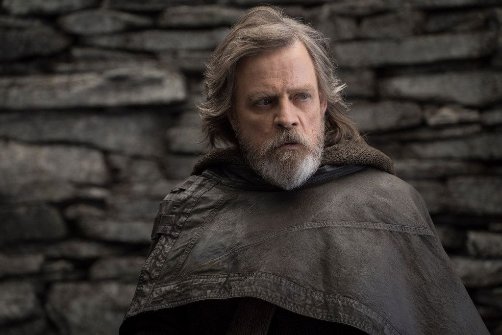 """This image released by Lucasfilm shows Mark Hamill as Luke Skywalker in """"Star Wars: The Last Jedi,"""" in theaters on Dec. 15."""