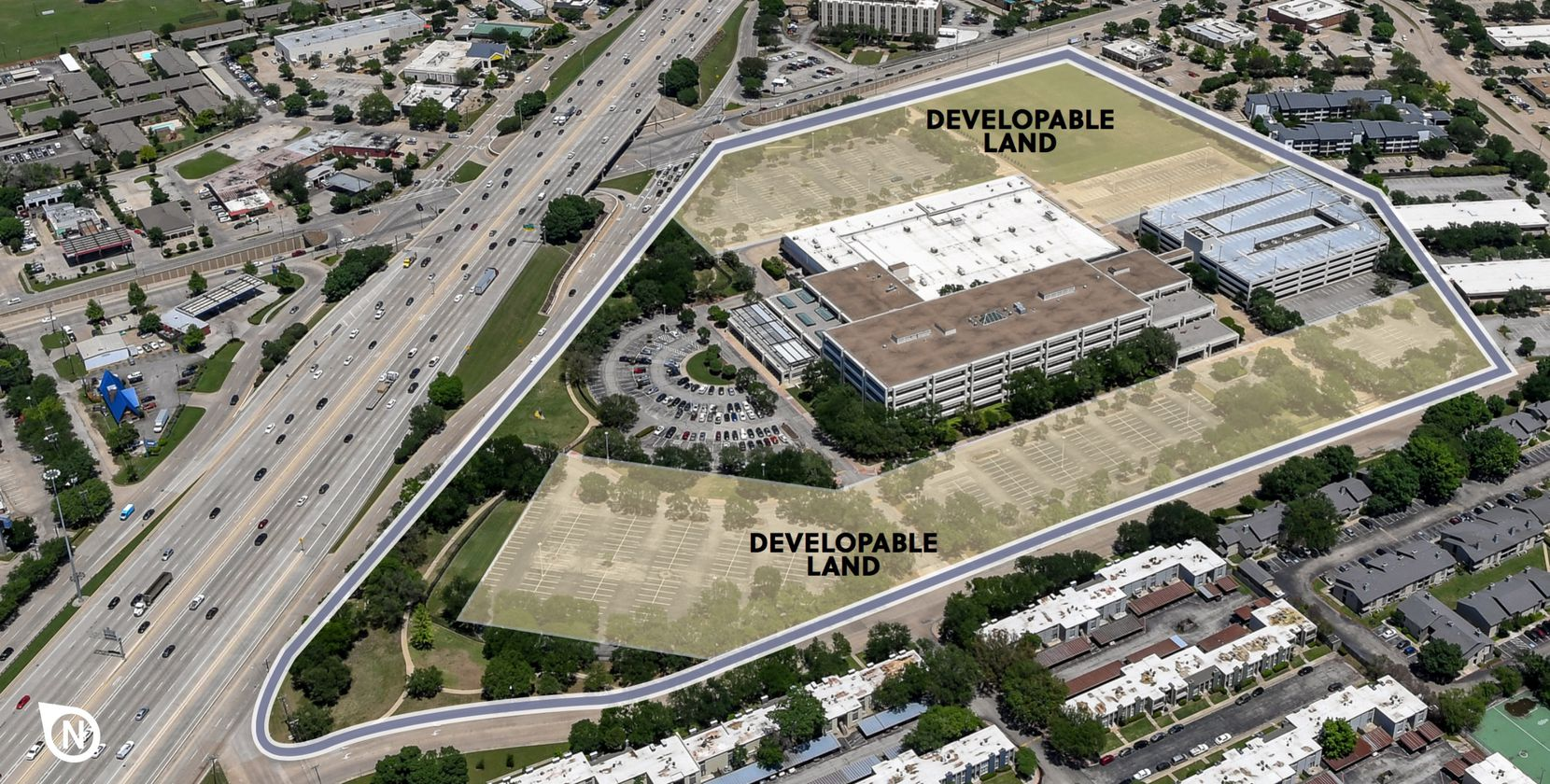 The Fossil campus has land for additional construction.