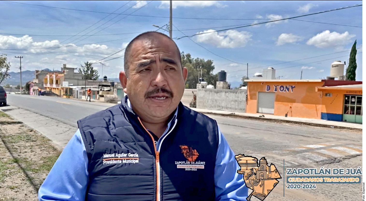 Manuel Aguilar García, presidente municipal de Zapotlán de Juárez, Hidalgo, fue asesinado a balazos, confirmó dirigente nacional de Movimiento Ciudadano.