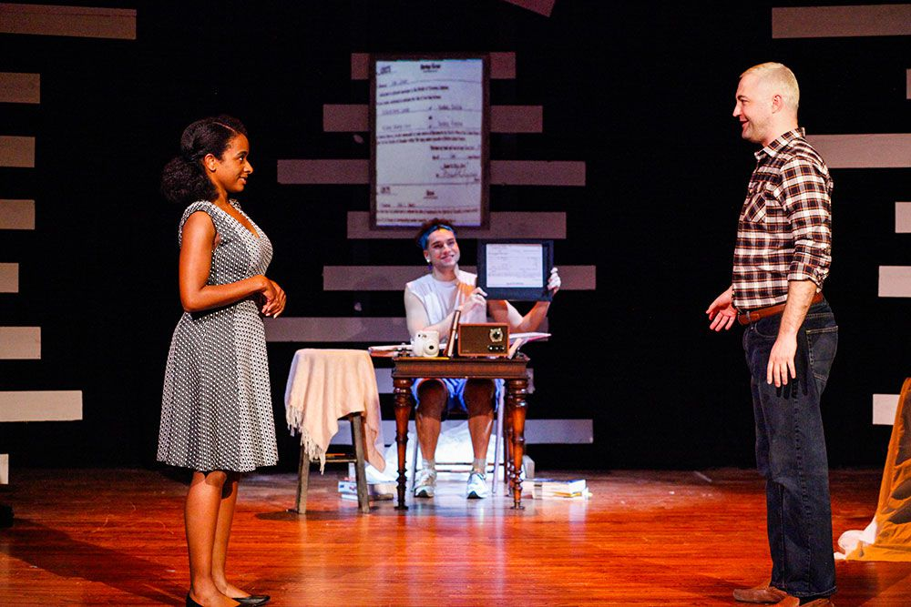 From left, Camille Monae as Mildred Loving, Colby Calhoun as Maya and DR Mann Hanson as Richard Loving in the play 'Loving and Loving,' earlier this year the Bishop Arts Theatre Center.