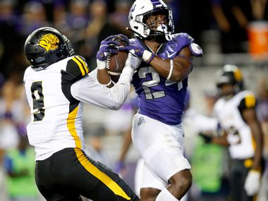 TCU running back Darwin Barlow finished fourth on the team in rushing yards in 2019 despite appearing in just four games. (Tom Fox/The Dallas Morning News)