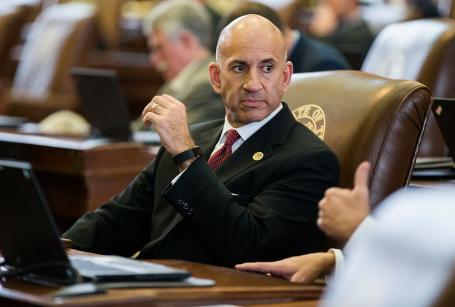 State Rep. Matt Shaheen, R-Plano, sits at his desk on Jan. 10, the third day of the 86th Texas Legislature session, at the Texas Capitol, in Austin.