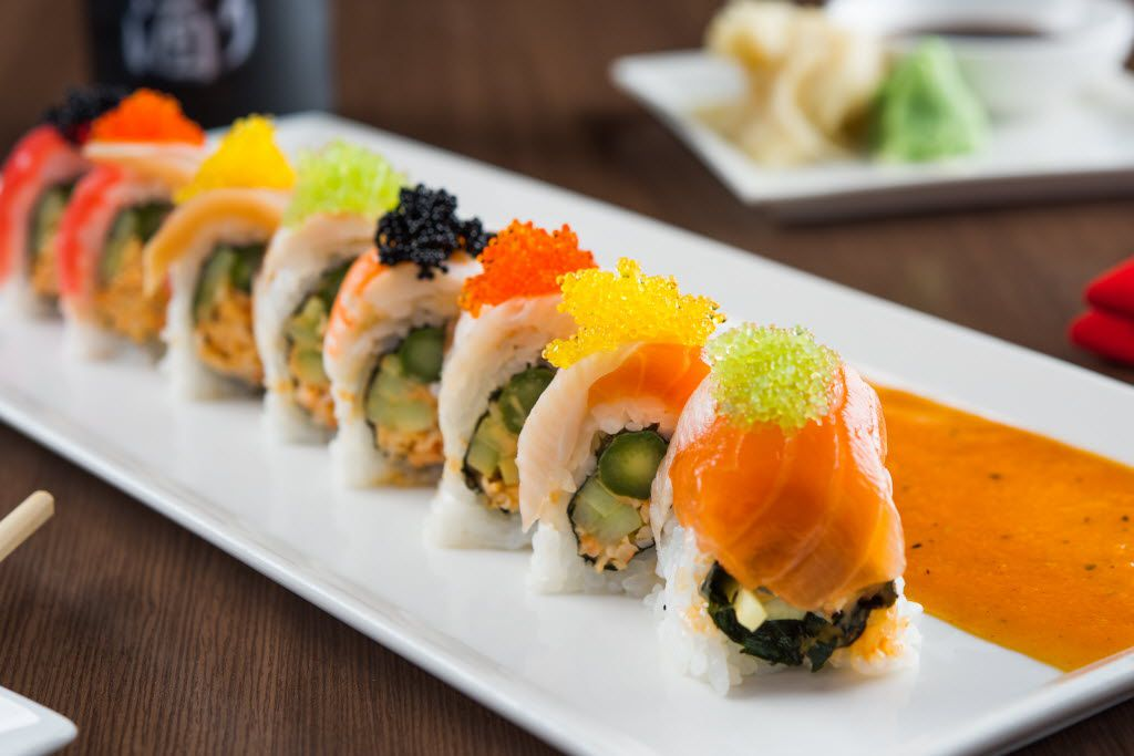 A rainbow roll from Edoko Sushi and Robata, which recently opened at the CityLine development.
