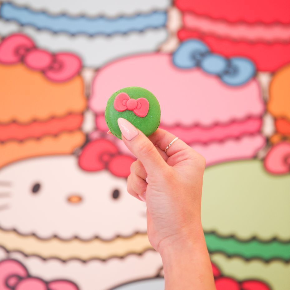 Macarons will be for sale when the Hello Kitty Cafe truck comes to Frisco and Fort Worth on Aug. 1, 2020 and Aug. 8, 2020, respectively.