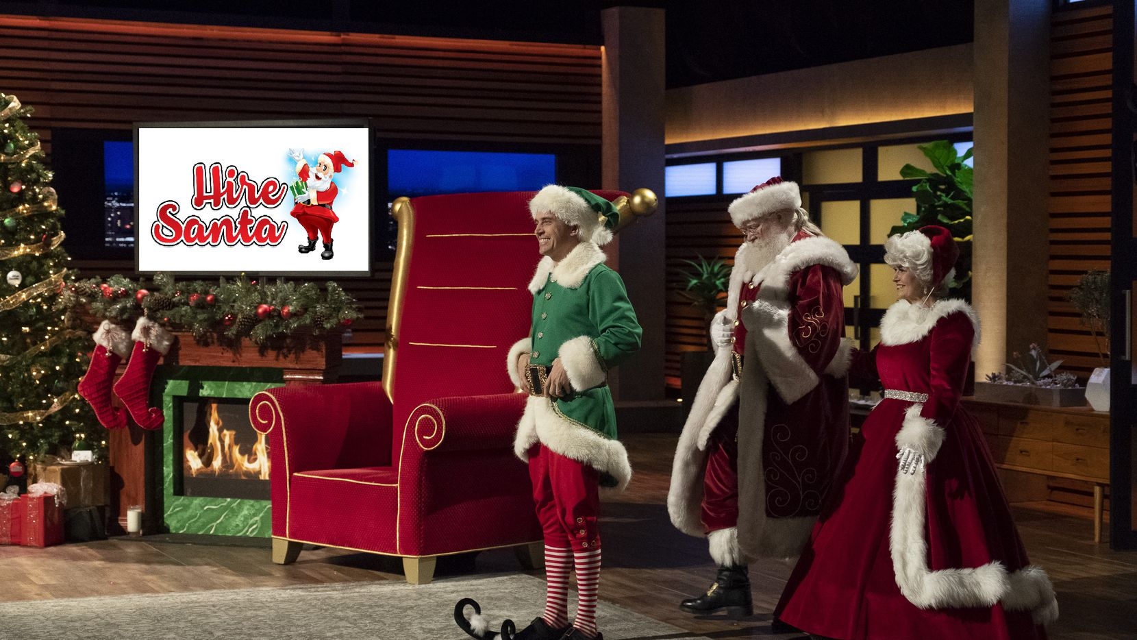 There was more holiday cheer than ever on Shark Tank when Mitch Allen, an entrepreneurial elf from Southlake, presented his large database of Santa entertainers to help people hire Santa Claus during the holidays.