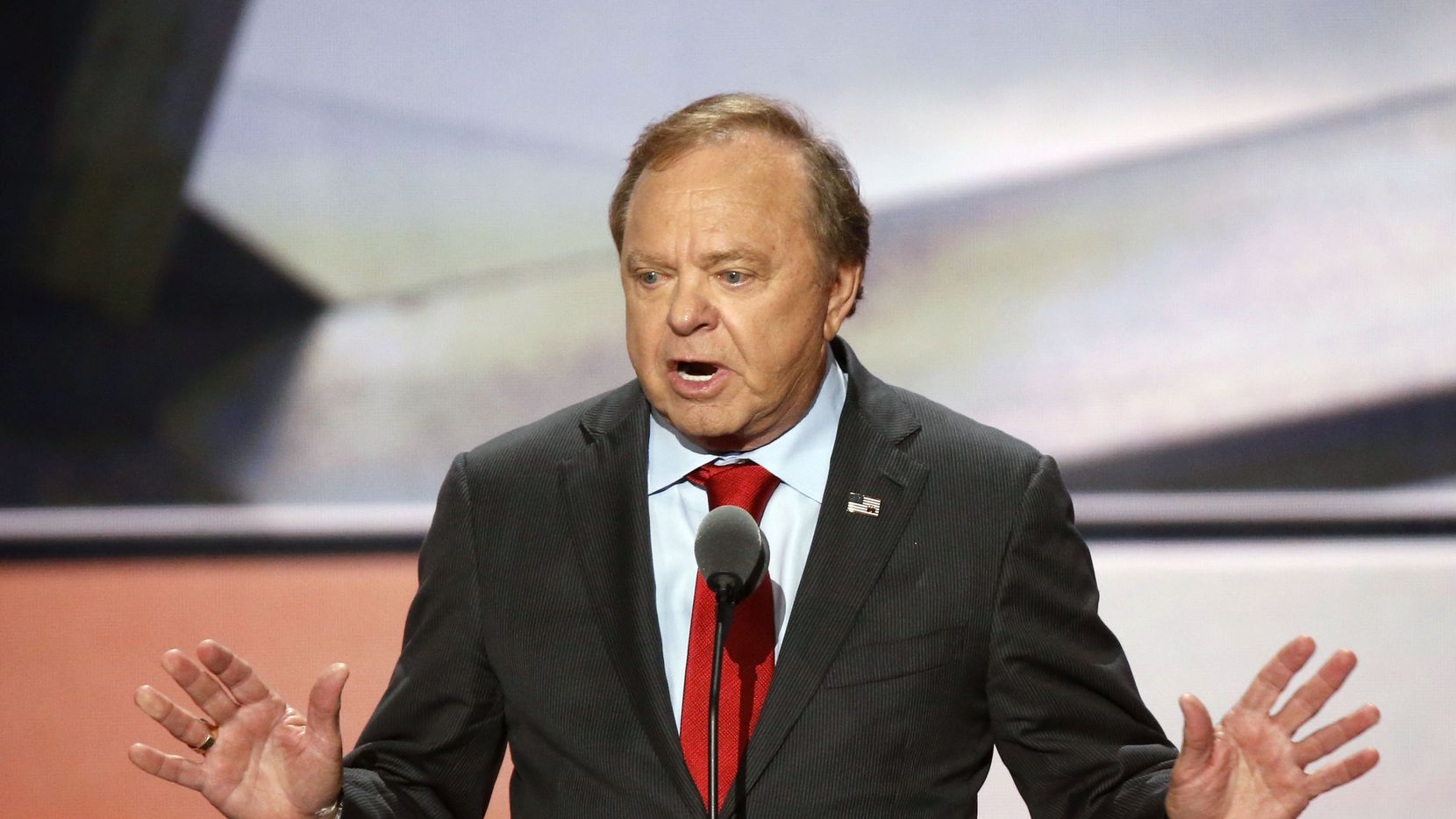 Continental Resources CEO, Harold Hamm speaks during the third day of the Republican National Convention on Wednesday, July 20, 2016. (Vernon Bryant/The Dallas Morning News)