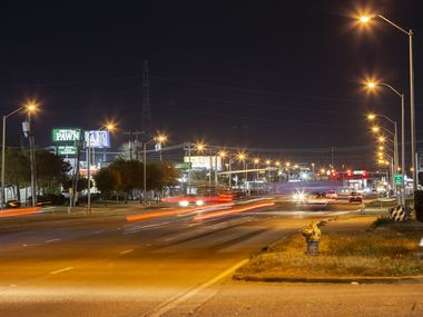 Looking south on Harry Hines Blvd at the intersection of Fabens Road in Dallas Sunday, December 6, 2020. DPD officials are looking to expand a cruising ordinance to the Harry Hines Boulevard to stop drivers who are cruising in areas that have prostitution. (Brandon Wade/Special Contributor)