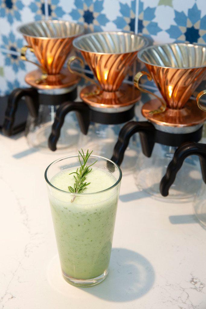 The Mediterranean Limonada includes lemon, mint, rosemary and ginger. It's nicknamed the 'Yara,' after co-owner Mamdouh Khayat's 1-year-old daughter.