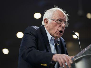 Sen. Bernie Sanders speaks during a campaign rally at the University of Houston on February 23, 2020.