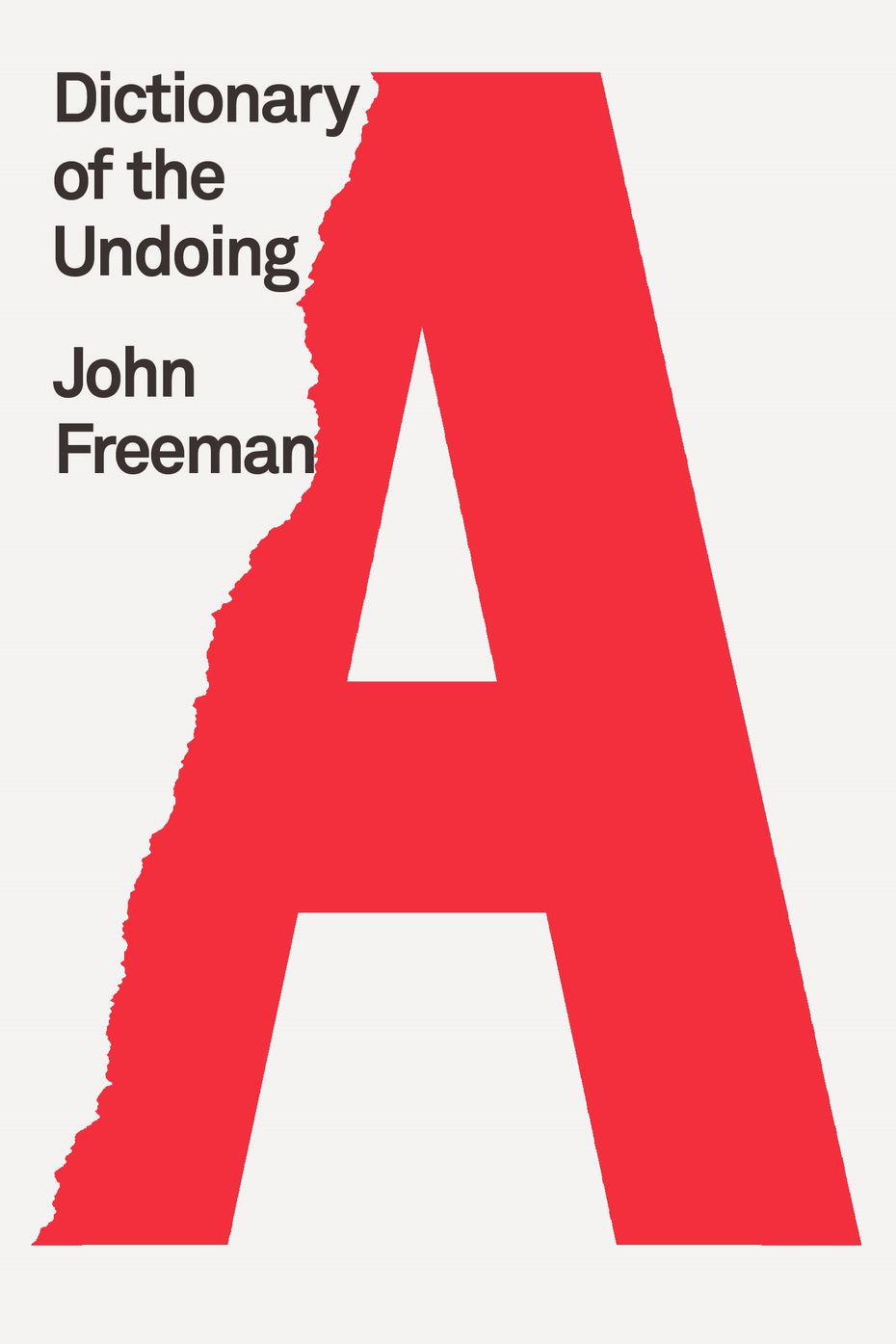 'Dictionary of the Undoing' is the latest book by author John Freeman.