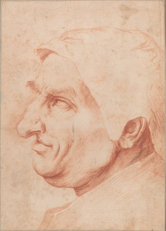 Jusepe de Ribera (Spanish, 1591 - 1652 ), Head of a Man, , red chalk on laid paper, Ailsa Mellon Bruce Fund 1984.41.1  Between Heaven and Hell: The Drawings of Jusepe de Ribera March 12 – June 11, 2017