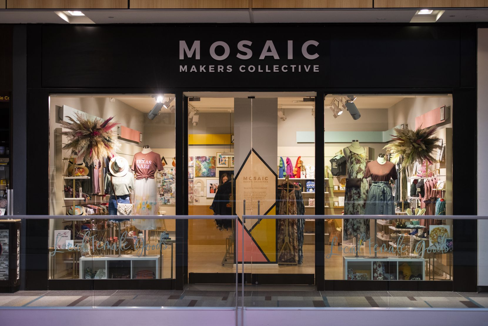 Mosaic Makers Collective features works from 45 Texas women and opened in July at Galleria Dallas on Level 2. This is the second location for the collective. The first one opened in Dallas Bishop Arts District in 2018.