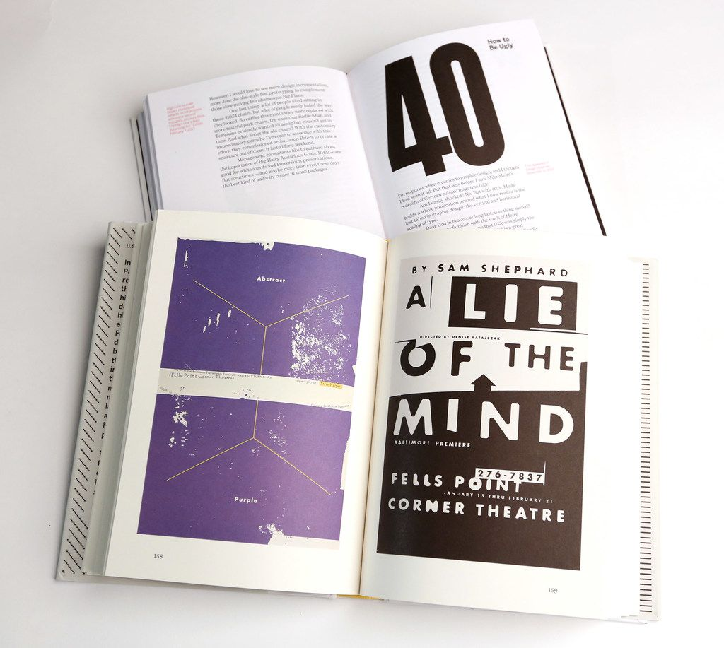 Two-Dimensional Man by Paul Sahre, top, and How You See It And Other Essays On Design, by Michael Bierut.