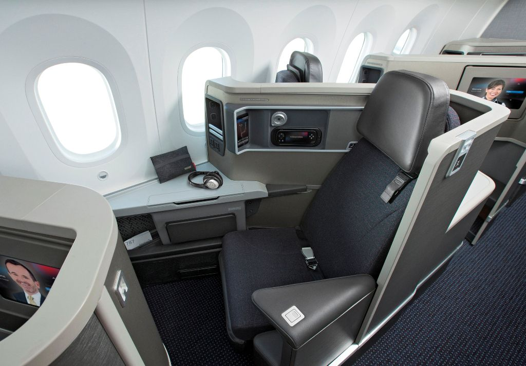 This is what Zodiac business-class seats look like on an American Airlines' Boeing 787-8 jet. (American Airlines)