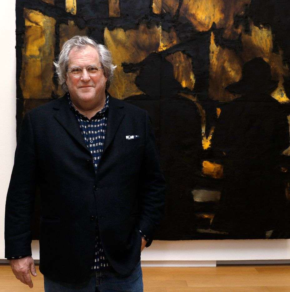 Artist Donald Sultan in front of Firemen March 6 1985 , featured in his exhibit at the Modern Art Museum of  Fort Worth photographed on  February 18, 2017. Donald Sultan: The Disaster Paintings will be on display at the Modern till April 23, 2017